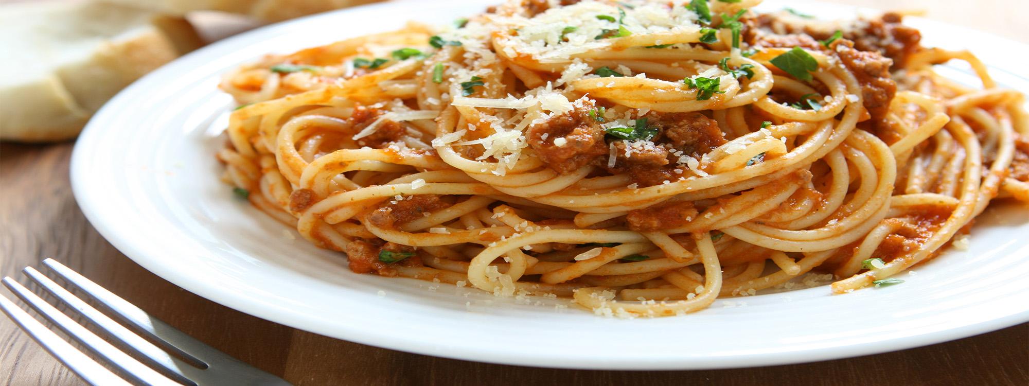 Spaghetti mit 9 verschiedenen Saucen